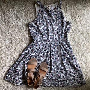 Floral Midi Dress | Size XL